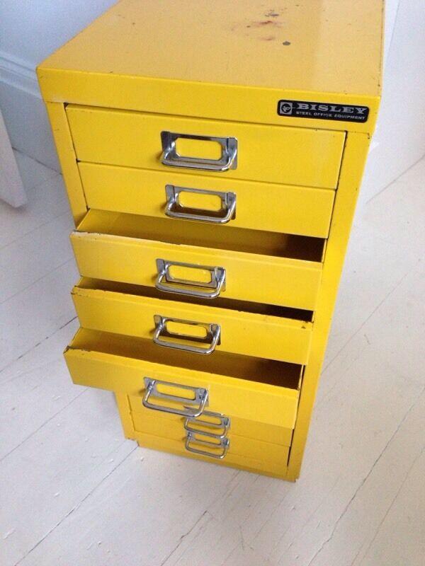 Vintage Bisley Filing Cabinet 10 Drawers A4