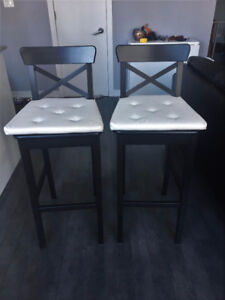 ikea bar stools with back rest