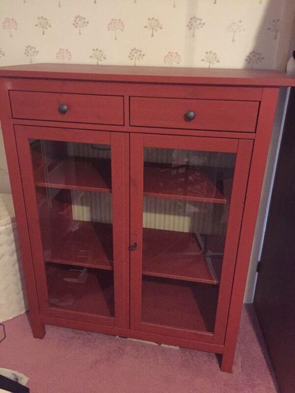 IKEA Hemnes Red Linen Cupboard