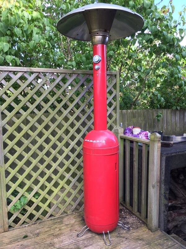 Red Memphis Patio Heater Not Working. Selling For Spares Or Repair As Seen