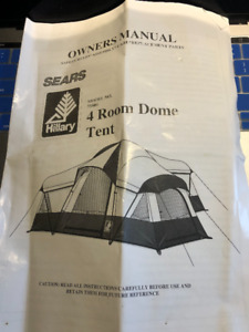 Sears Hillary 4 room dome Tent & Hillary Tent | Kijiji in Ontario. - Buy Sell u0026 Save with Canadau0027s ...