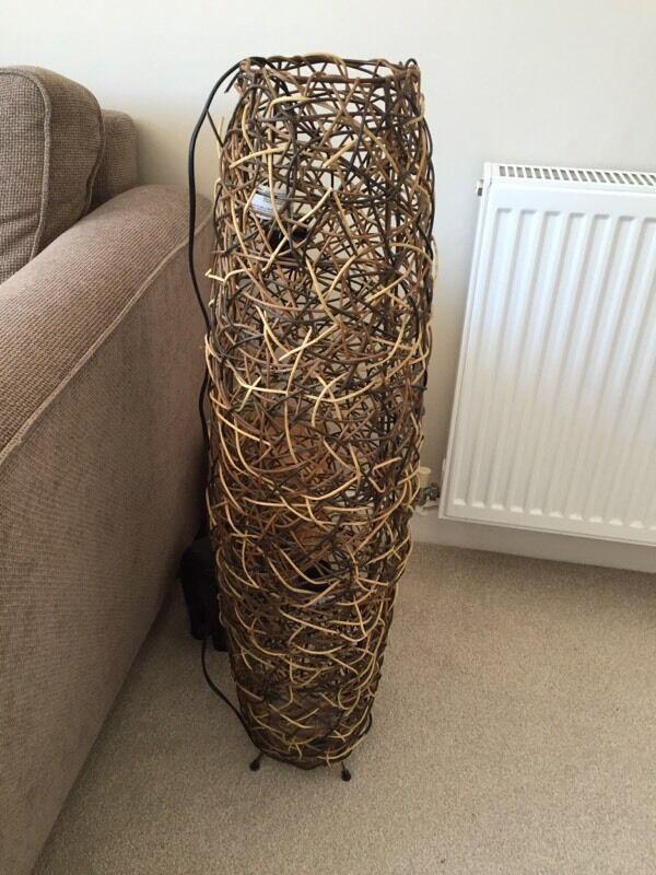 Large Wicker Floor Lamp NEXT