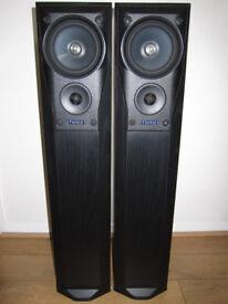 MISSION 782 Speakers Floor Standing Black Ash 200W 3 Way Home Cinema Large  Audiophile