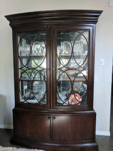 Beautiful Dark Wood China Cabinet