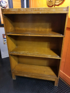 Antique Wooden Glass Door Bookcase. Antique Maple Stackable Barristers  Bookcase