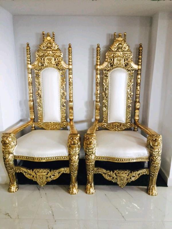 Etonnant Wedding Throne Chairs Hire, Wedding Chair, Gold Thrones ...