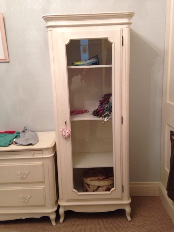 Laura Ashley Provencale Single Glass Door Armoire Cabinet Unit Wardrobe