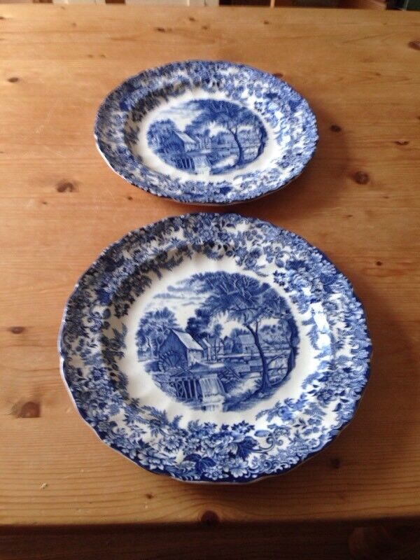 Mill Stream Blue China Plates & Mill Stream Blue China Plates | in Portsmouth Hampshire | Gumtree