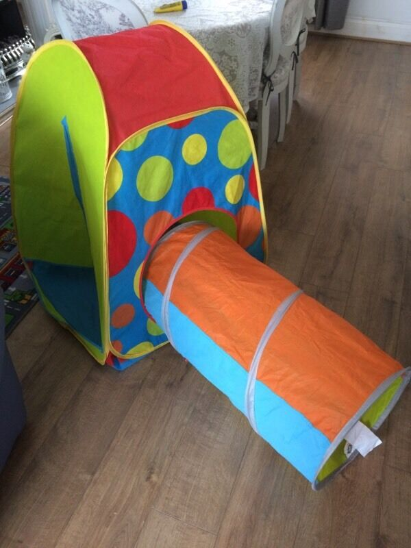 Chad valley pop up tent and tunnel. Like new & Chad valley pop up tent and tunnel. Like new | in Hengoed ...