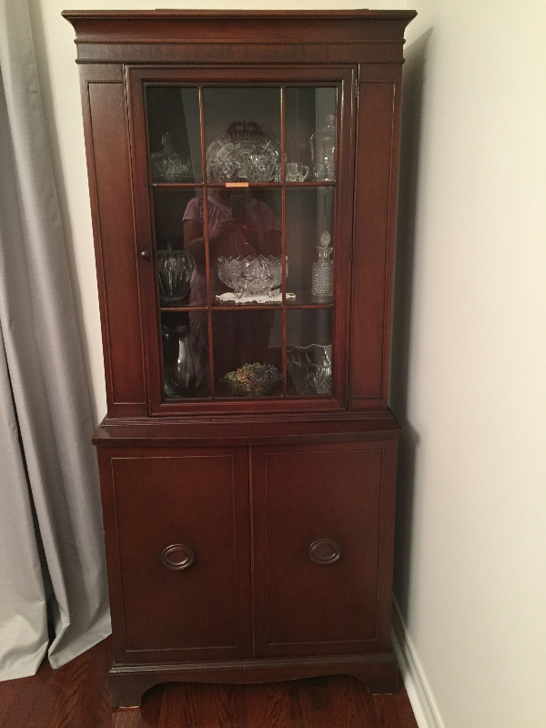 Description. Vintage China Cabinet ...