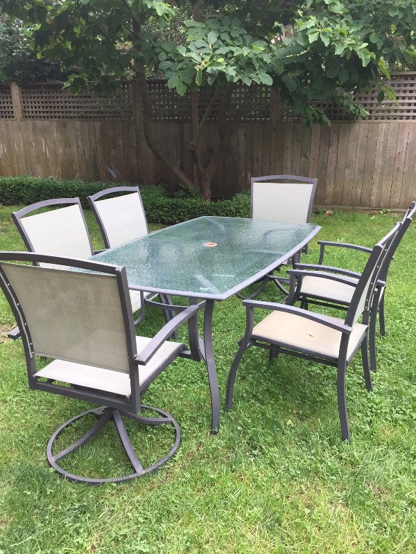 Description. A patio table and six chairs ... & Patio Table and 6 Chairs | Patio u0026 Garden Furniture | City of ...