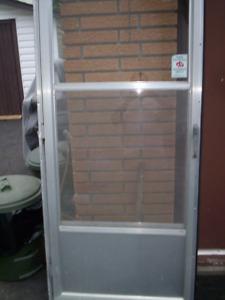 32X80 ALUMINUM STORM DOOR WITH FRAME