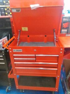 us general pro new red tool cart still in the box with 5 drawers