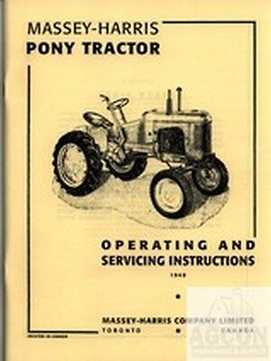 Massey Harris Pony Tractor Operating Service Manual