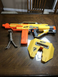 Nerf N Strike Stampede ECS Rifle With Shield, 18 Round Clip and