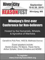 River City Reasonfest (Atheist) Conference, Sept. 19-20