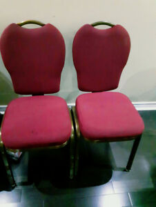 10 CHAIRS (OFFICE, BANQUET HALL, PARTY CHAIRS)
