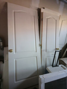 2-Panel Arch-Top used interior doors for sale