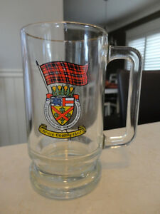 Vintage Bruce County Screened Glass Beer Mug - Perfect Shape