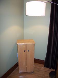 Armoire table de chevet petit meuble  rangement BOIS MASSIF NEUF