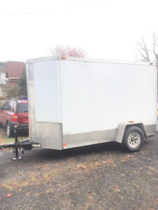 5x10 v-nose enclosed trailer with ramp (2013)