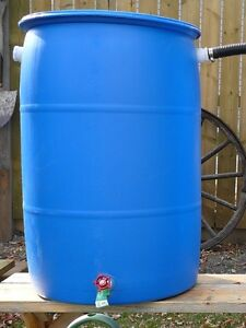 Food grade rain barrel