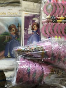 Birthday party supplies for themes like frozen, Avengers