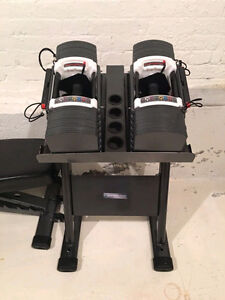 PowerBlock 9.0 Adjust Dumbbells 5-90lbs w Stage 3 + Stand