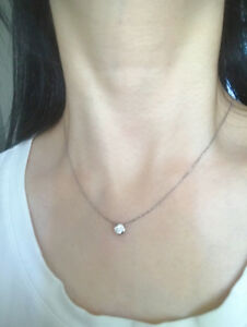 like new 18k diamond necklace