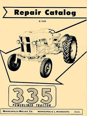 Minneapolis Moline 335 Powerlined Parts Manual Catalog