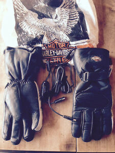Brand New Leather Heated Harley Gloves