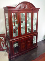 Hand Carved Malaysian Dinning set and Hutch