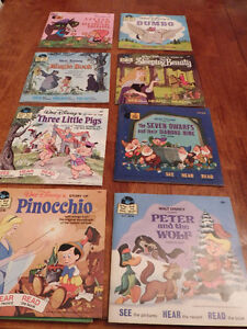 Two Mint Condition Children's Read-Along Record Collections.