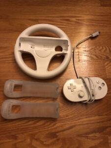 Wii / Wii U accessories, games, steering wheel & game pad