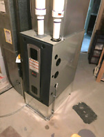 Trane high efficiency furnace installs