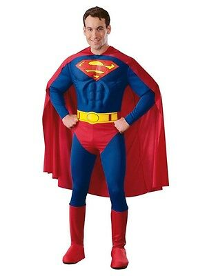 Muscle Chest Superman Deluxe Adult Mens Costume - Superman Muscle Costume