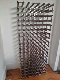 Wine rack for 126 bottles steel/wood