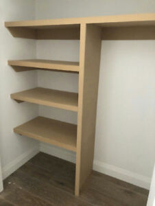 TOP MDF CLOSETS shelves installation. 3/4 Bullnose Shelves, shel