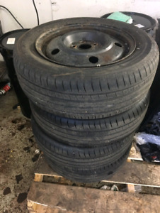 195/60 R15 Summer Tires and Rims