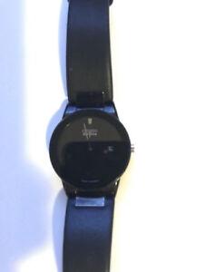 Citizen Mens Au1065-07E Eco-Drive Black Leather Strap Watch