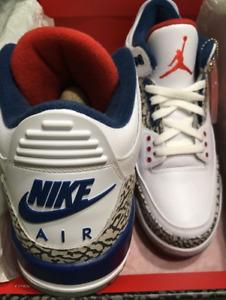 Air Jordan 3 Retro OG True Blue Size 9.5