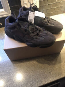 Yeezy 500 Utility Black new with tags and box