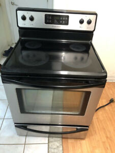 """Frigidaire stainless steel 30"""" electric glass ceramic top stove"""