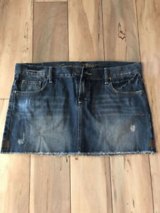 Ladies Campus Crew Denim Mini Skirt