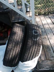 Selling two all season tires 215 70R16 100.00  OBO