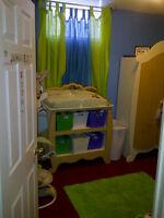 Winnie the poo crib set