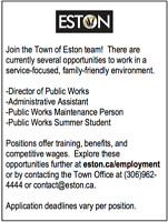 Town of Eston - Career Opportunity