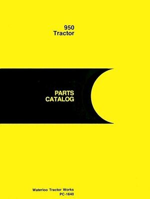 John Deere Model 950 Tractor Parts Manual Catalog Jd 1640