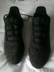 Mens Adidas grey /black size 8