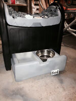 pet bed and food/ organizer